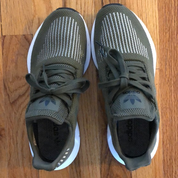 b7c0b2f9ff4 adidas Shoes - Adidas olive green swift run sneakers